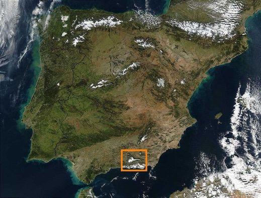 Mapa de situación Sierra Nevada
