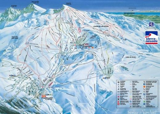 Mapa de pistas - Sierra Nevada