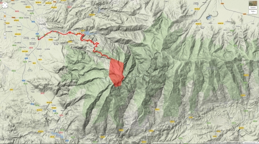 Mapa Situación Sierra Nevada